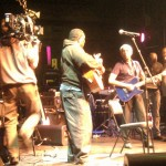Gilberto Gil and Vusi Mahlasela rehearsing at the Market Theatre in Johannesburg