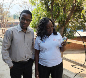 Tryness Kantedza (MACRA) and Chomora Mikeka (U of Malawi)